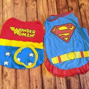 Wonder Woman, Supergirl Superman dog costume, L/XL